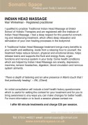 Indian head massage flyer back